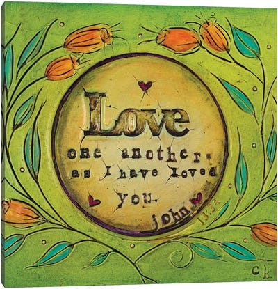 Love One Another Canvas Art Print