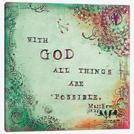All Things are Possible Canvas Print #CKI1} by Carolyn Kinnison Canvas Print