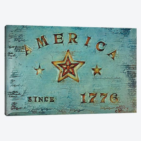 America 1776 Canvas Print #CKI2} by Carolyn Kinnison Canvas Art Print