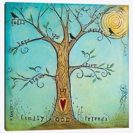 Faith Family Friends Tree Canvas Print #CKI8} by Carolyn Kinnison Canvas Art Print