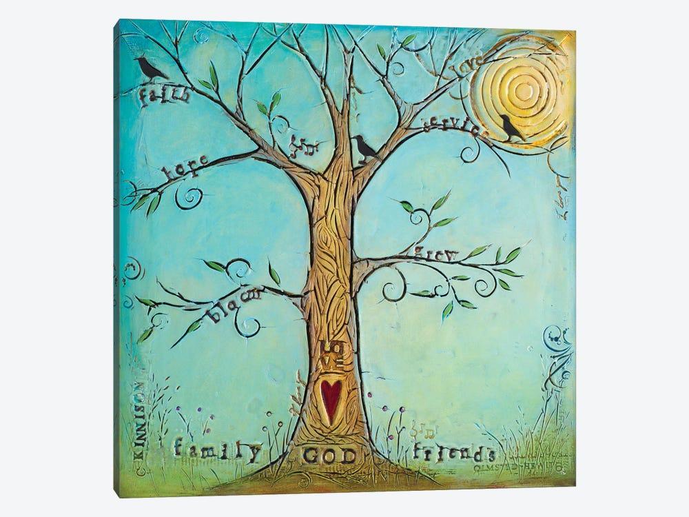 Faith Family Friends Tree by Carolyn Kinnison 1-piece Canvas Print