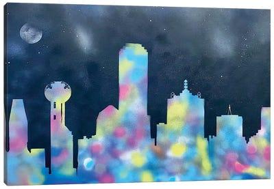 Dallas At Night Canvas Art Print