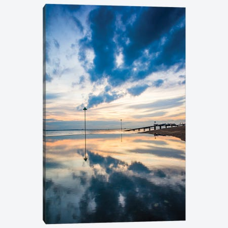The Paddling Pool - By Ocean Beach Canvas Print #CKP13} by Colin Kemp Photography Art Print