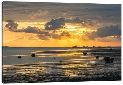 Sunset At Low Tide - Southend Canvas Art Print