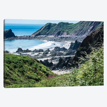 Lone Walker At Marloes Sands, Pembrokeshire Canvas Print #CKP25} by Colin Kemp Photography Canvas Print