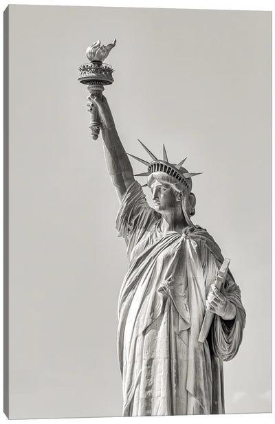 'I Lift My Lamp' - Liberty Canvas Art Print