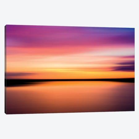 Colours Of Sunset, Fleet Head Creek, Essex Canvas Print #CKP44} by Colin Kemp Photography Canvas Art Print