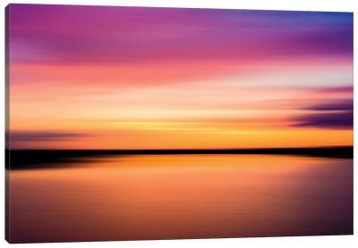 Colours Of Sunset, Fleet Head Creek, Essex Canvas Art Print