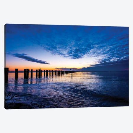 Indigo Sunrise Shoeburyness Canvas Print #CKP4} by Colin Kemp Photography Canvas Artwork
