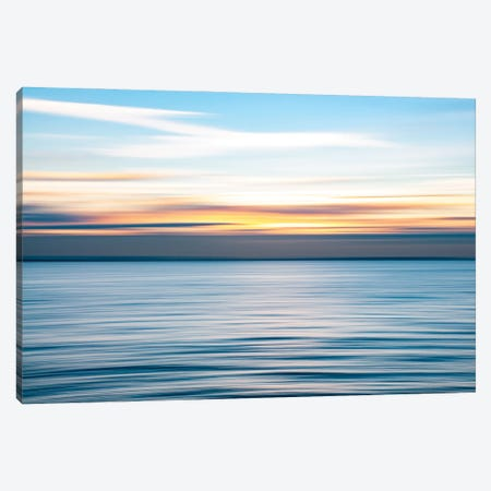 Ripples - Abstract Sunset, Southend Canvas Print #CKP54} by Colin Kemp Photography Canvas Artwork