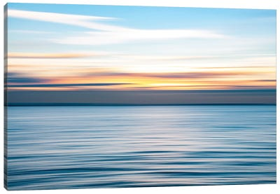 Ripples - Abstract Sunset, Southend Canvas Art Print
