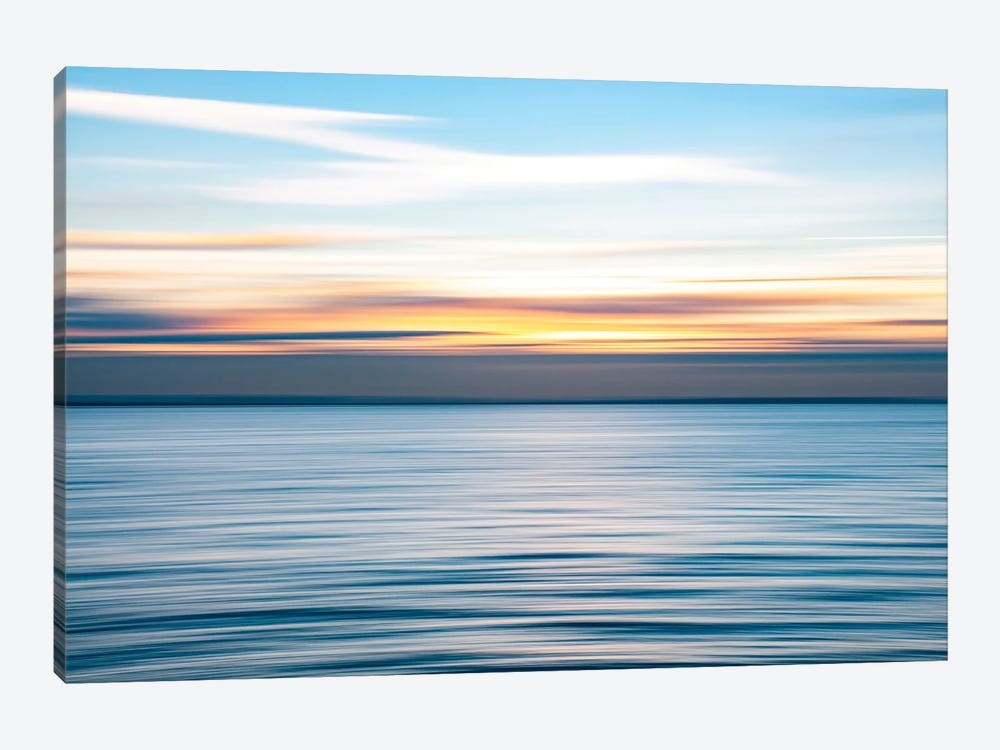 Ripples - Abstract Sunset, Southend by Colin Kemp Photography 1-piece Canvas Wall Art