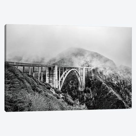 Bixby Bridge, Cloud-Clad Big Sur Canvas Print #CKP60} by Colin Kemp Photography Canvas Artwork
