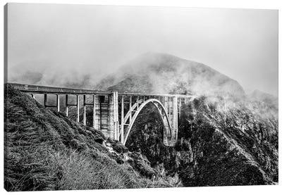 Bixby Bridge, Cloud-Clad Big Sur Canvas Art Print