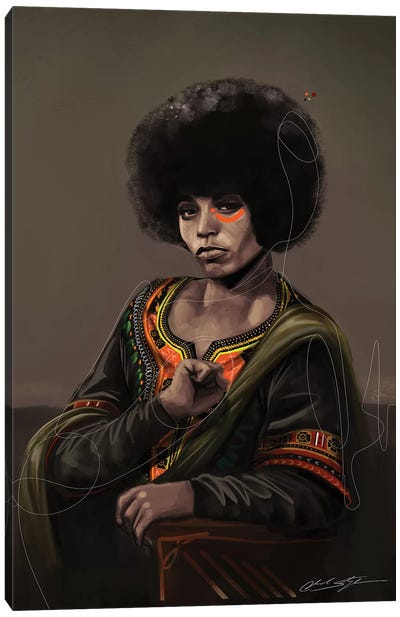 BHM Angela Davis Canvas Art Print