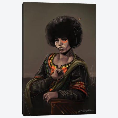 BHM Angela Davis Canvas Print #CKS10} by Chuck Styles Canvas Art
