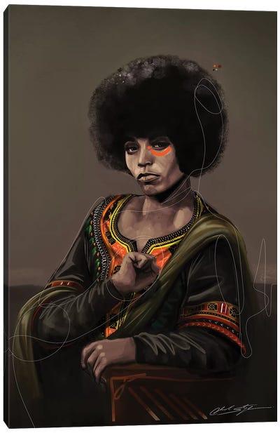 BHM Angela Davis Canvas Art Print