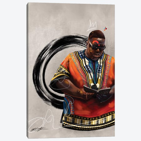 BHM Biggie Canvas Print #CKS11} by Chuck Styles Canvas Artwork