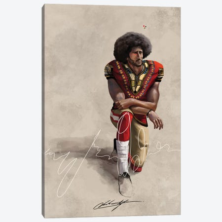 BHM Kaepernick Canvas Print #CKS12} by Chuck Styles Canvas Artwork