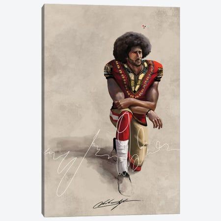 BHM Kaepernick Canvas Print #CKS12} by Chuck Styles Canvas Artwork