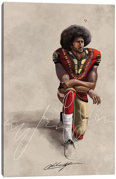 BHM Kaepernick Canvas Art Print
