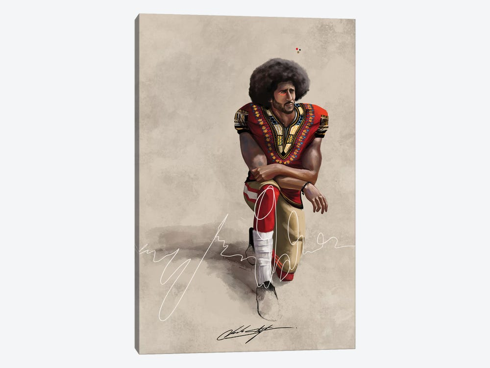 BHM Kaepernick by Chuck Styles 1-piece Canvas Artwork