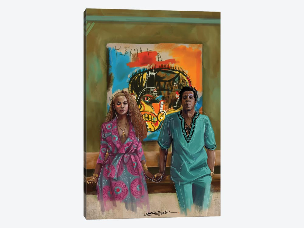 BHM The Carters by Chuck Styles 1-piece Canvas Artwork