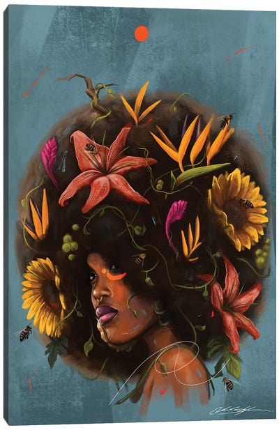 Cocoa Butter Blossoms Canvas Art Print