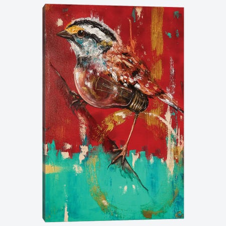 Fly On Sparrow Canvas Print #CKS19} by Chuck Styles Canvas Wall Art