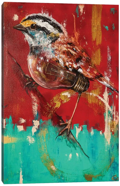Fly On Sparrow Canvas Art Print