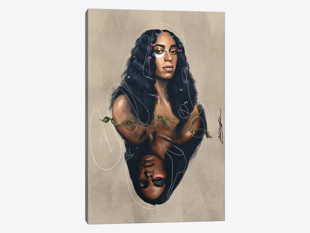 A Seat At The Table When I Get Home by Chuck Styles 1-piece Canvas Artwork