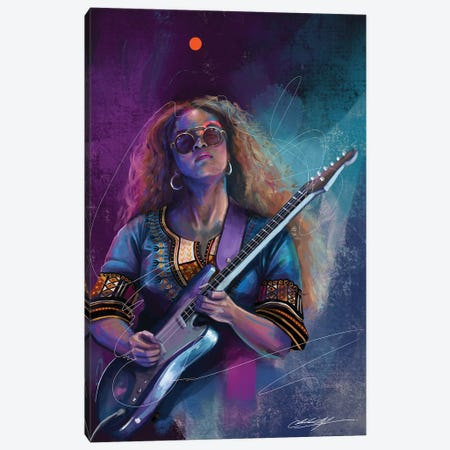Her Carried Away Canvas Print #CKS24} by Chuck Styles Canvas Artwork