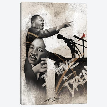 I Am The Dream Canvas Print #CKS25} by Chuck Styles Canvas Art
