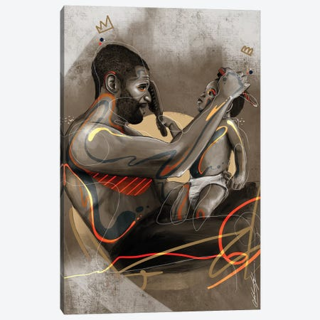 Like Father Canvas Print #CKS26} by Chuck Styles Canvas Artwork