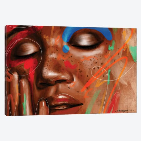 Love Yourz Canvas Print #CKS27} by Chuck Styles Canvas Wall Art