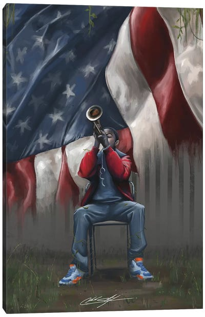 A Trumpet In Americas Park Canvas Art Print