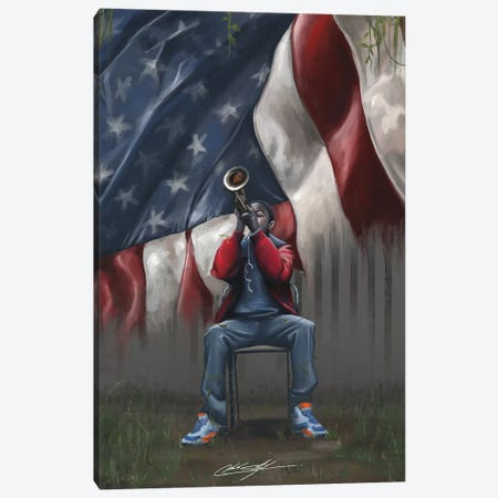 A Trumpet In Americas Park Canvas Print #CKS2} by Chuck Styles Canvas Art