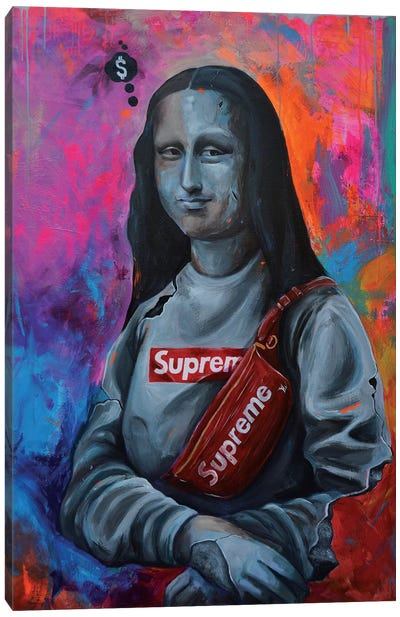 Modern Lisa Canvas Art Print