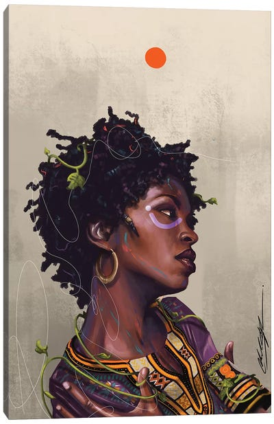 Ms Lauryn Zion by Chuck Styles Canvas Art Print