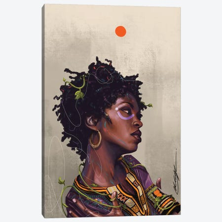 Ms Lauryn Zion Canvas Print #CKS31} by Chuck Styles Canvas Wall Art