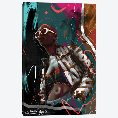 New Age Melanin Canvas Print #CKS32} by Chuck Styles Canvas Art