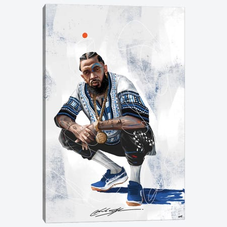 Nipsey The Marathon Continues Canvas Print #CKS33} by Chuck Styles Canvas Artwork