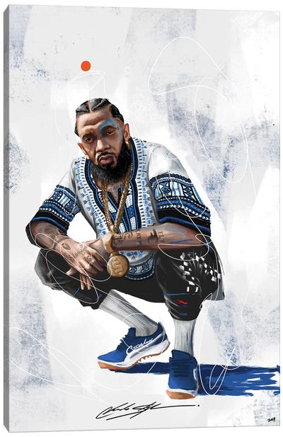 Nipsey The Marathon Continues Canvas Art Print