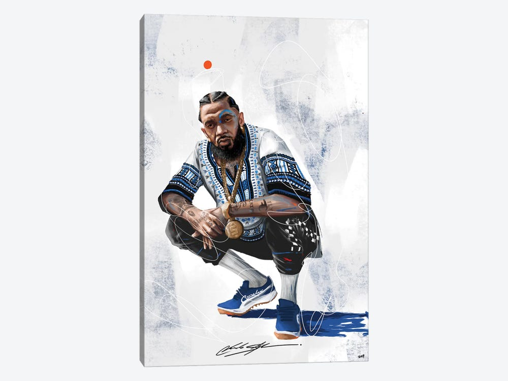 Nipsey The Marathon Continues by Chuck Styles 1-piece Canvas Print