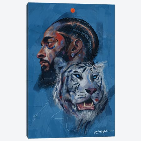 Rare Breed Canvas Print #CKS36} by Chuck Styles Art Print