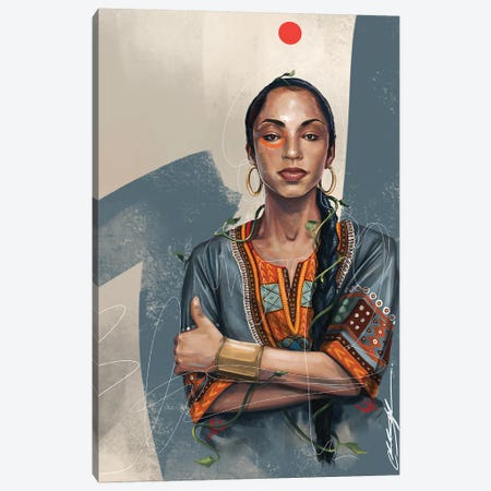 Sade No Ordinary Canvas Print #CKS38} by Chuck Styles Canvas Wall Art