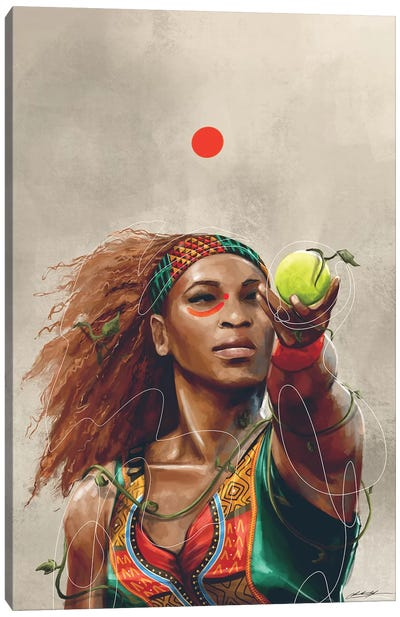 Serena by Chuck Styles Canvas Art Print
