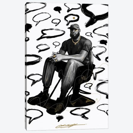 Shop Talk Canvas Print #CKS41} by Chuck Styles Canvas Print