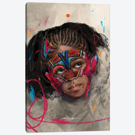 Been Super Girl Canvas Print #CKS8} by Chuck Styles Canvas Art