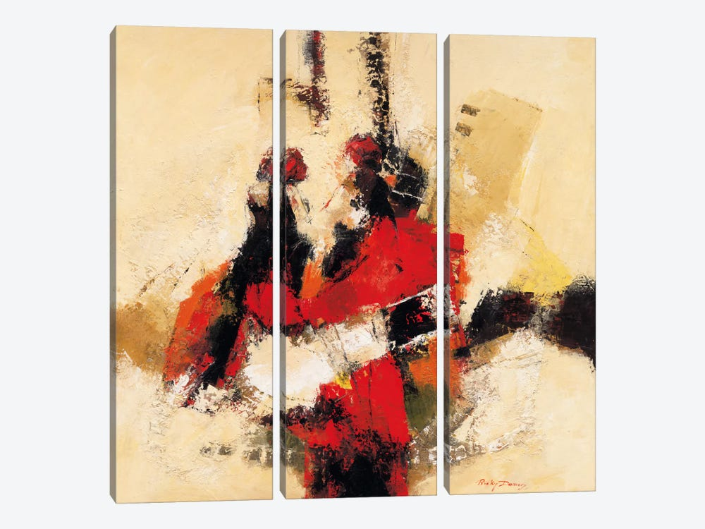 Follow Me II by Ricky Damen 3-piece Canvas Art Print